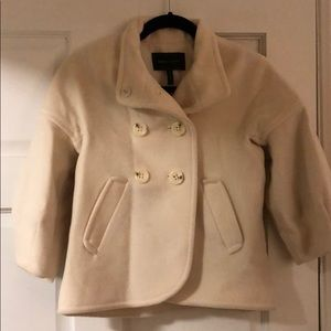 BCBG Cream Peacoat